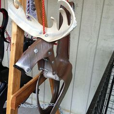 Tire- Swing made into a moose. Photo by gfdoctor