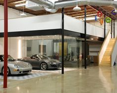 Amazing Car Showroom Design with Living Room: Expensive Cost The Car Cave Garage Sports Car