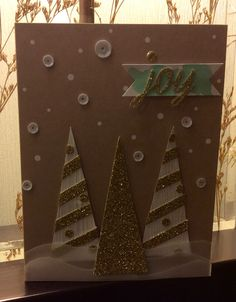 Stampin' Up! demonstrator Loretta B's project showing a fun alternate use for the Watercolor Winter Simply Created Card Kit.