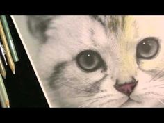 How to Color in a Grayscale Image using colored pencils - YouTube