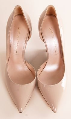 Casadei Nude Pointed Pumps
