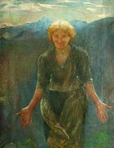 The Southing of the Sun, 1911 - Annie Louisa Robinson Swynnerton (1844 – 24 October 1933) was an English painter