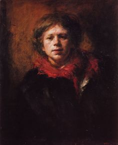 Odd Nerdrum, Norwegian. Reminds me of Rembrandt self portraits.