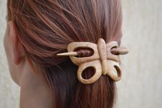 present for mom gift for women Butterfly shawl pin Womens Gift Mom mothers day gift Hair Stick Hair Barrette Hair Pin Slide Haarstab Presents For Mom, Gifts For Mom, Wooden Projects, Wooden Art, Whittling, Hair Sticks, Wooden Jewelry, Hair Barrettes, Wood Carving