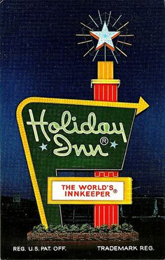 I remember when Holiday Inn's signs looked like this. Vintage.