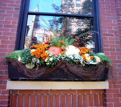 Today was as hot and sunny as August; it was easy to forget that we're deep into October. These window boxes on Fairfield Street were a beau...