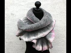 Filzanleitung für einen Schal aus Merinowolle - felting - YouTube