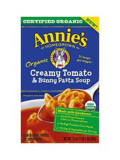 Organic Creamy Tomato & Bunny Pasta Soup - Annie's Homegrown