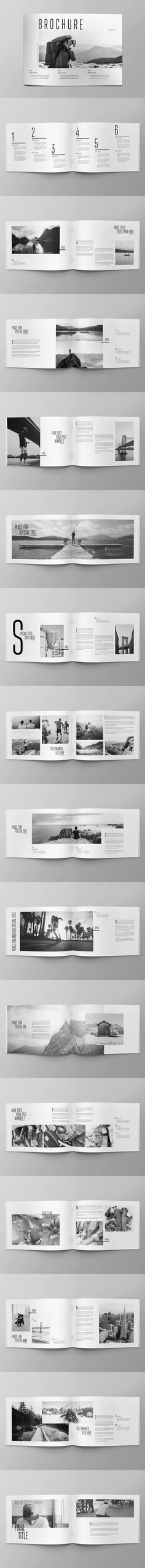 Cool Minimal Photography Brochure Template InDesign INDD - A4 and US Letter Size