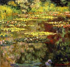 Water-Lilies 55 by Claude Monet - Oil Painting Reproductions Starting at $119.00 OilPaintings.com #decorate