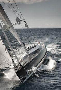 "emrayfo: "" The fast cruising sloop Kokomo, a 58 metre (191 foot) luxury superyacht """