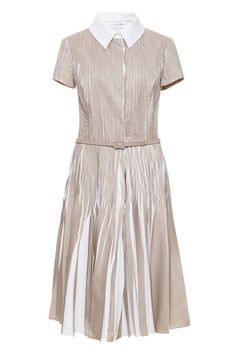 50 Dresses Perfect for Spring - Best Spring Dresses - Elle  Pleats Please  Oscar de la Renta Knife-Pleat Belted Shirt Dress, $3,190; modaoperandi.com