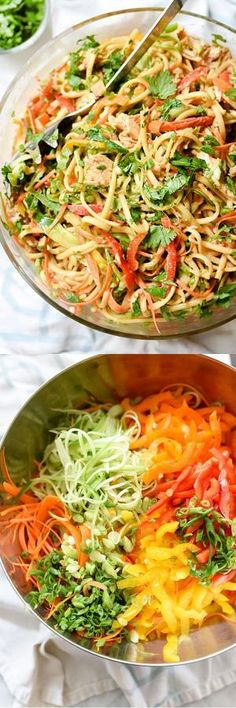 This Asian-flavored pasta salad is one of my most popular all-in-one meals on… Will,use gluten free pasta. This Asian-flavored pasta salad is one of my most popular all-in-one meals on… Will,use gluten free pasta. Soup And Salad, Pasta Salad, Noodle Salad, Asian Recipes, Healthy Recipes, Healthy Salads, Clean Eating, Healthy Eating, Pasta Dishes