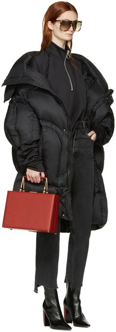 5710e0630 Chen Peng - Black Oversized Puffer Jacket Puffer Jackets, Winter Jackets,  Chen, Street