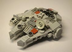 Mini LEGO Millennium Falcon from Star Wars. Incredible detail for a small model!