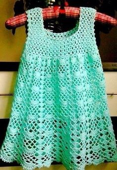 Crochet For Children: Beautiful Lacy Dress - Free pattern I LIKE the top of this---idea for yoke of blouse---videos on stitches---helpful info! Crochet Baby Dress Pattern, Crochet Lace Dress, Crochet Baby Clothes, Crochet Top, Crochet Patterns, Crochet Diagram, Knitting Patterns, Sewing Patterns, Crochet Yarn