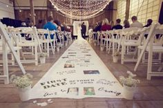 DIY personalized aisle runner from Oh Lovely Day