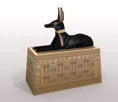 This is the replica of the Anubis box found inside of the tomb of ...