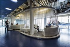 Camenzind Evolution is an architectural office located in Zurich and Berlin. Interior Work, Office Interior Design, Office Interiors, Store Interiors, Google Office, Office Lounge, Open Office, Office Plan, Evolution Design