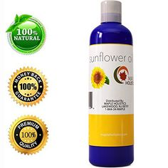 Pure Sunflower Seed Oil  Cold Pressed for Greatest Efficacy  Use on Hair Skin  Body for Advanced Hydration  Vitamin E Rich  Great Essential Massage Oil Base  4 Oz USA Made By Maple Holistics -- Continue to the product at the image link. (Note:Amazon affiliate link)