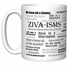 NCIS Ziva-ISMS Ziva David Quotes Team Gibbs Coffee Mug Newest Edition Tins-Trays Conditioners Products Supplies Index Dividers-Stamps Labels Blue Coffee Cups, Funny Coffee Cups, Ceramic Coffee Cups, Funny Mugs, White Coffee, Ziva David, Coffee Mug Quotes, Coffee Humor, Coffee Mugs