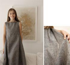 Nei Miei Panni® - Abito ampio in lino grigio per La Scala