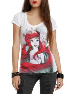 Disney The Little Mermaid Land Or Sea Girls T-Shirt