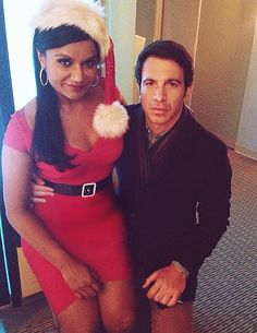 """Mindy Kaling and Chris Messina - """"Christmas Party Sex Trap"""" BTS, The Mindy Project"""