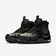 a68f7eb523a The Nike Air Bakin Posite Triple Black (Style Code  returns for the 2017  holiday season in an all-Black colorway along with a look at upcoming