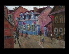 Gavrilov, Vladimir Nikolaevich  1923 - 1970 Town Scene Oil on canvas 65 x 52cm 1950's - See more at: http://www.russianartdealer.com/galleries/russian-art#sthash.pxVqmVXt.dpuf