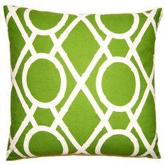 Picnic Bamboo Green Throw Pillow @Zinc_Door