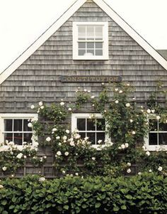 The exterior of the fisherman's cottage, classic Nantucket.