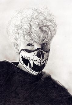 B.A.P Zelo -- His mask is so detailed