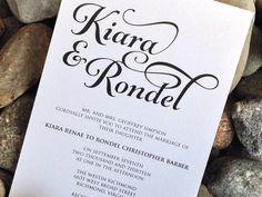 Elegant Pocketfold Wedding Invitation  by SoireeCustomPaperCo, $5.50