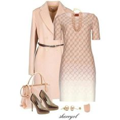 Peach and Brown Outfit