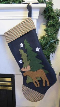 Moose Christmas stocking