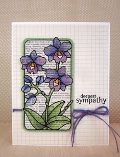 sympathy card by Norineb.... looks like watercolor but it's copics!