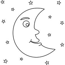 Star Coloring Pages Moon And Star