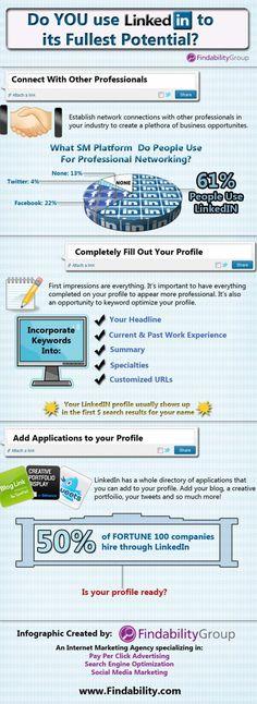 Infographics How To Use #LinkedIn