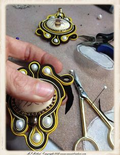 Social Butterfly Jewellery Design: Soutache Embroidery - Covering the back!