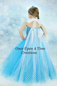 Elsa Inspired Frozen Princess Tutu Dress w/ por OnceUponATimeTuTus, $39.99 Isabella fiesta