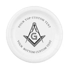 Personalized Masonic Party Plates and Decorations - black gifts unique cool diy customize personalize