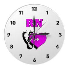 RN Nursing Care Round Wallclock, $28.10