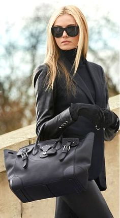 Ralph Lauren in black knows the deal.  All we need now is the economy to improve.... | Street Fashion