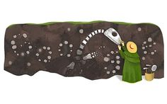 British fossil collector Mary Anning's 215th birthday has been marked with a Google doodle. My daughter loves her story. http://www.amazon.com/Mary-Anning-Fossil-Remarkable-Children/dp/0382394860