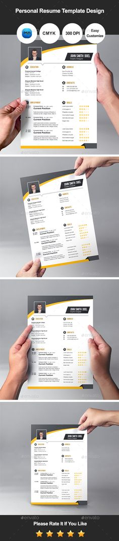 Cv Modern resume template, Modern resume and Cv ideas - personal resume template