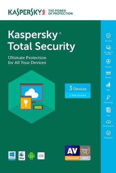 Kaspersky Total Security 2017 3 Devices Win Mac