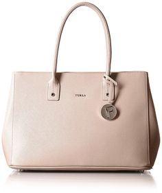 Furla Women's Linda Medium Tote East/West Moonstone Tote. #BestPrice $12.99!