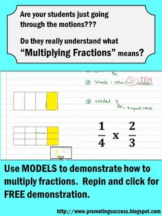Do your students REALLY understand how to multiply fractions?