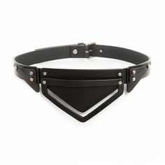 The Layered Triangle leather belt is made out of 3 mm smooth saddlery leather. Its inspired by angles and sharp geometric shapes. It was designed to emphasise and sculpture the female waistline, achieving a great body silhouette.  Handmade in UK #tictail #leather #belt #handmade